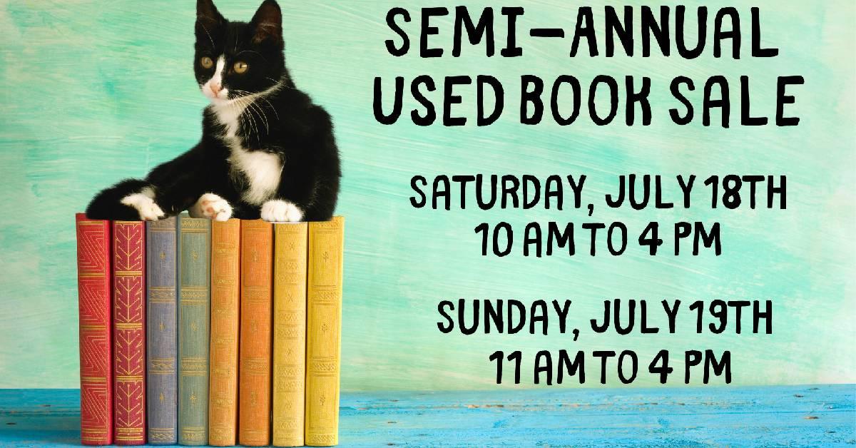 Semi-annual used book sale