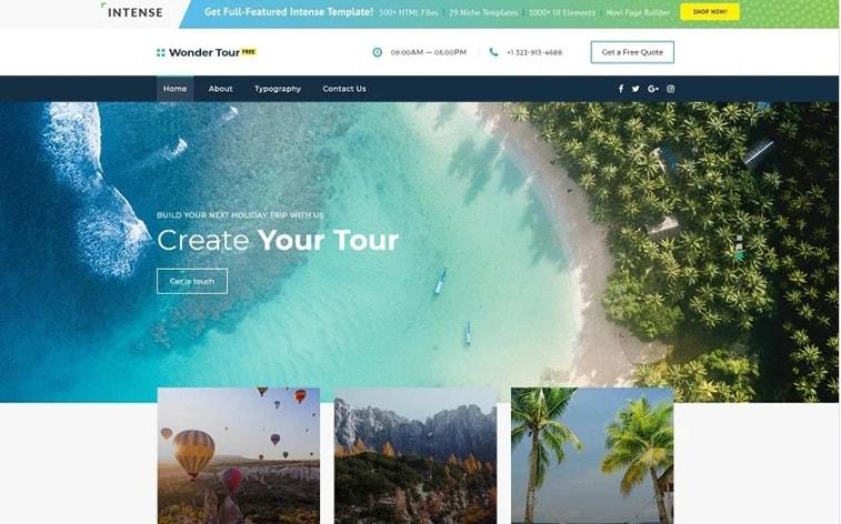 лучший бесплатный шаблон темы ботстрапа сайт туристического агентства блог