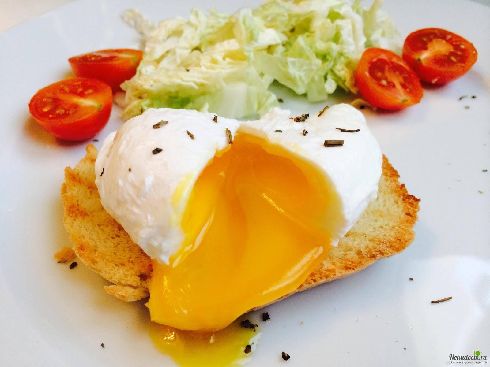 11. Приготовить яйцо-пашот идея, микроволновка