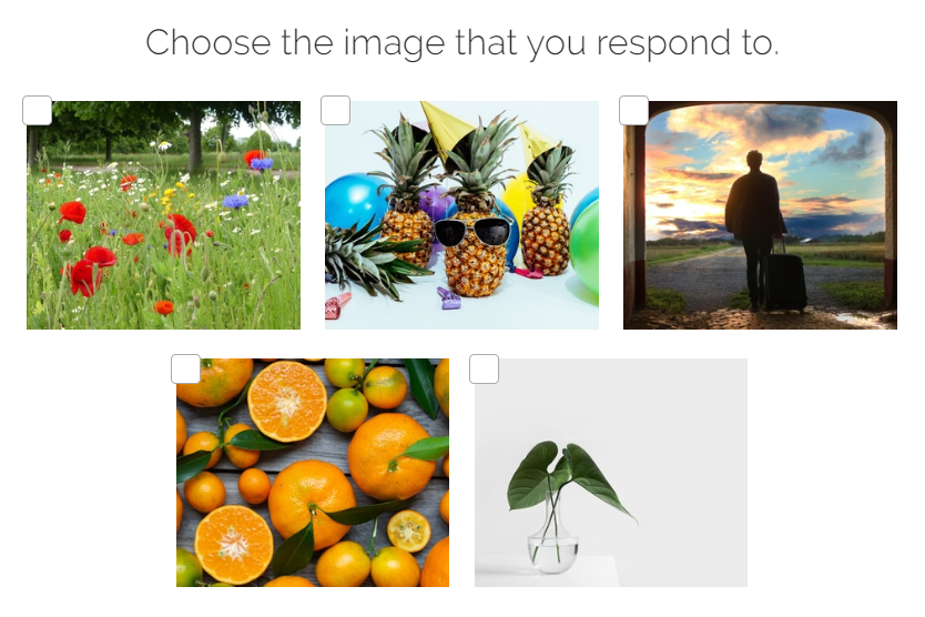 which image you respond to quiz question