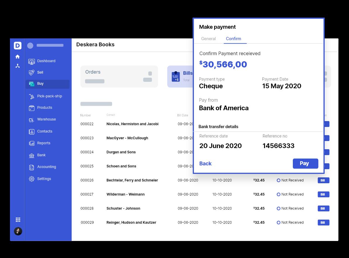 Deskera Books' Automated Business Expense Alerts