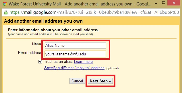 how to create an alias for your gmail account