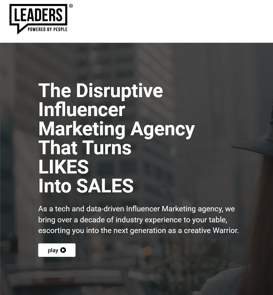 Leaders. Top influencer marketing agency 2021