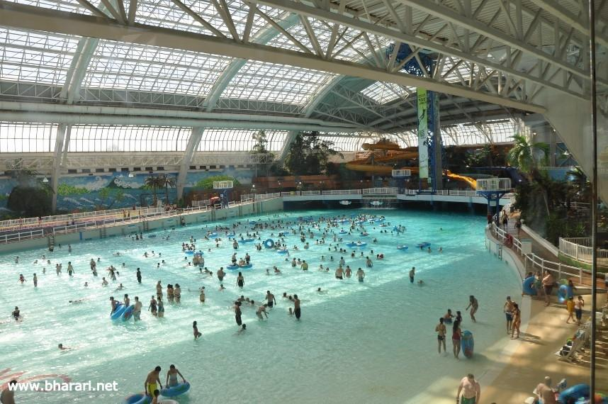 A water park in the West Edmonton Mall