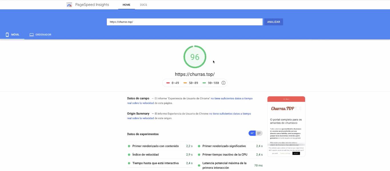 google speed test insight
