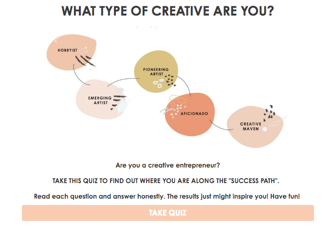 what type of creative are you? quiz cover with different creatives