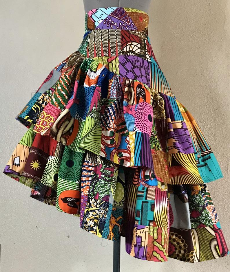 african print skirt styles