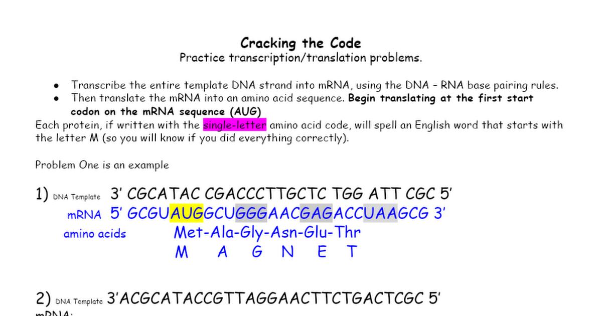 Cracking the Code Google Docs