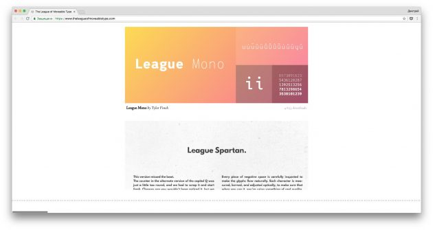 Бесплатные шрифты: The League of Moveable Type