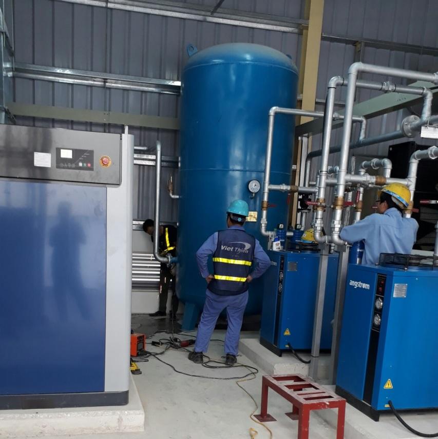 Hệ thống máy nén lưu lượng khí.