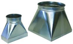 Ducting round to square adaptors