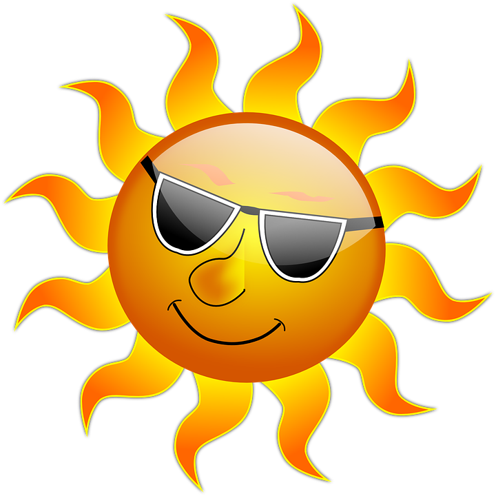 Free vector graphic: Sun, Cool, Sunshine, Glossy, Smile - Free ...