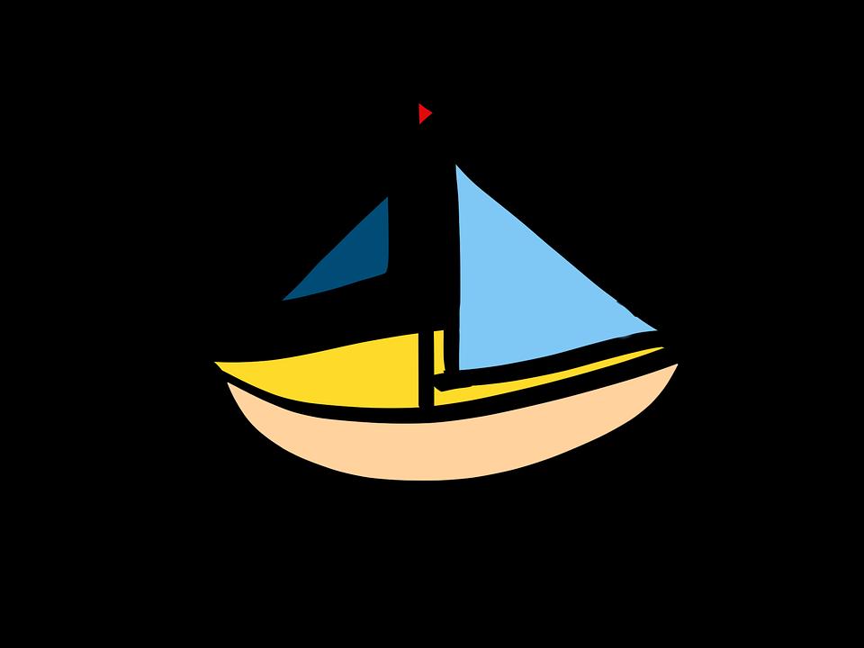 segelbåt tecknad fartyg boot