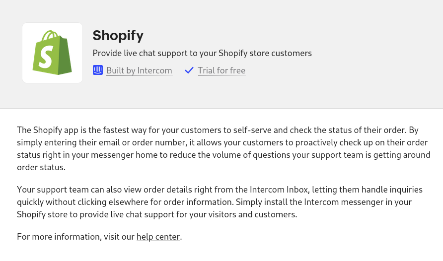Shopify to Intercom
