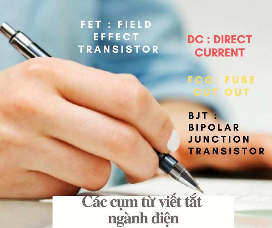 Các cụm từ viết tắt trong ngành điện - linh kiện điện tử Vietnic