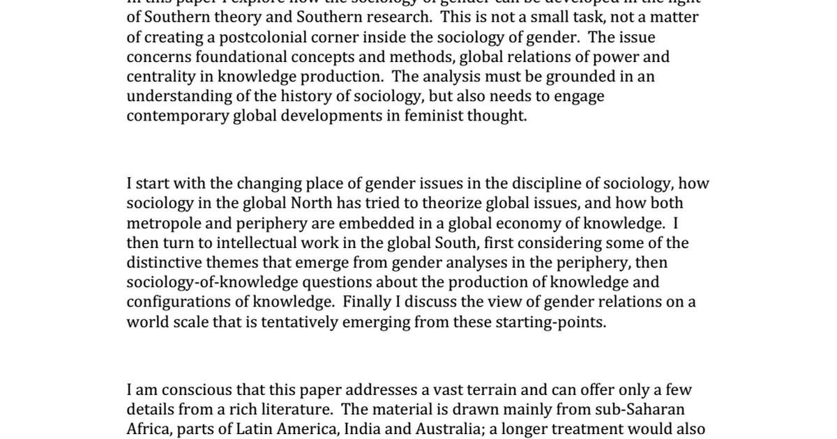 an analysis of the gender theory and the separation of sex from gender As with most of theopening introductions in this guide to theory, we must begin the introduction to this section with the analysis of gender and sex.