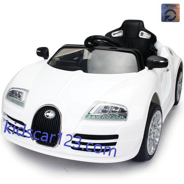Xe ô tô BUGATTI có ghế mát xa JE1188 màu trắng