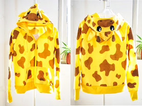 kuning, giraffe kwangsoo, fleece, Hoodie, hoodie korea murah, korea, murah, warna, Pre Order, fashion korea, hoodie lucu