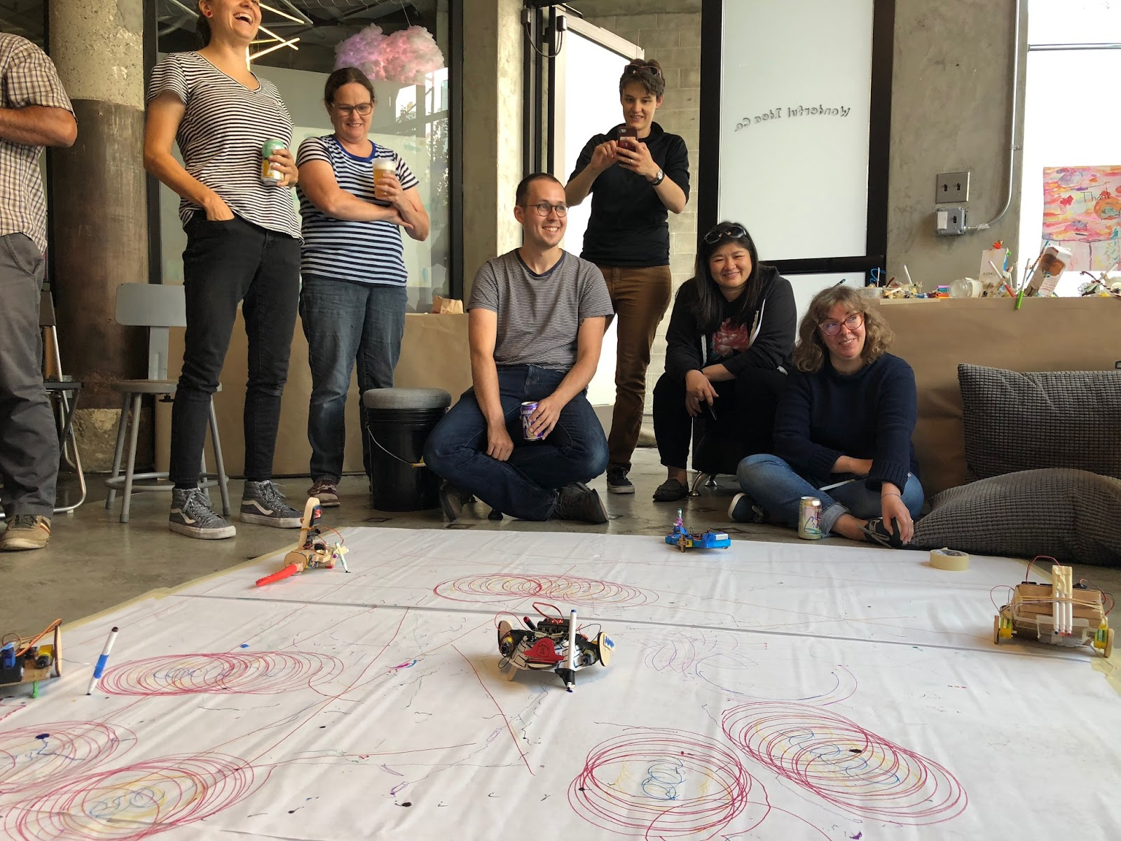 educators watch their drawing bots