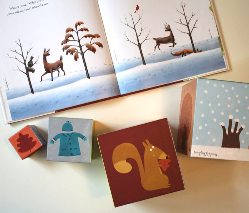 Season matching activity with book