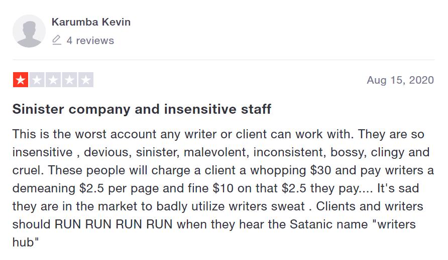 [Alt Tag: A review from a writer Source: trustpilot.com]