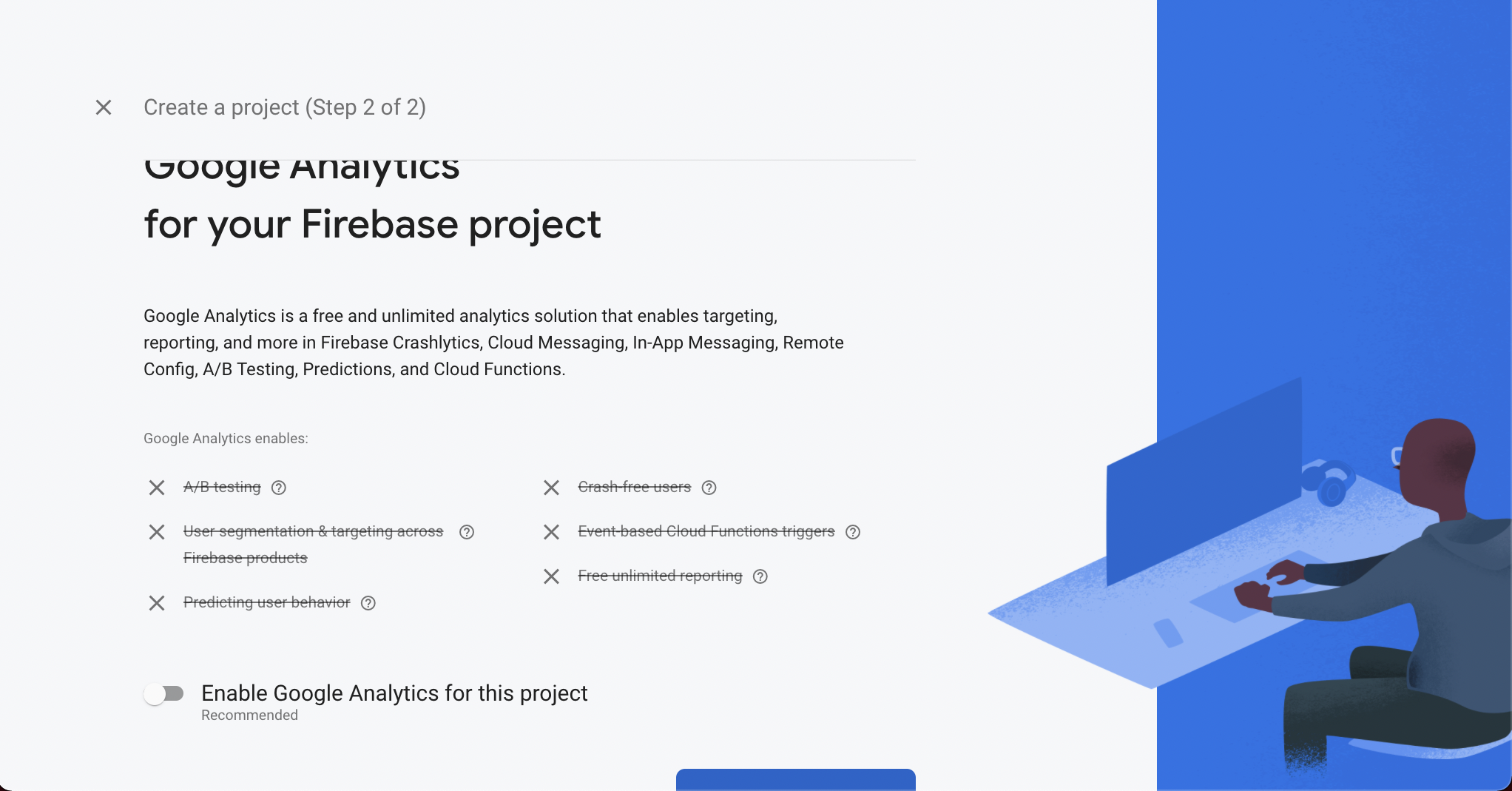 Link your project to Google Analytics