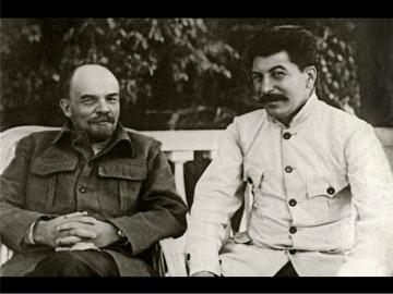 Иосиф Сталин и Владимир Ленин