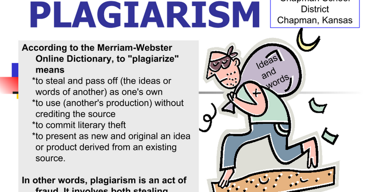 an analysis of the existence of plagiarizm Plagiarism software s has been in use for almost a decade to get the sense of theft of intellectual property however,in today s digital world the easy access to the web,lar ge databases,and tele by editorijiert.