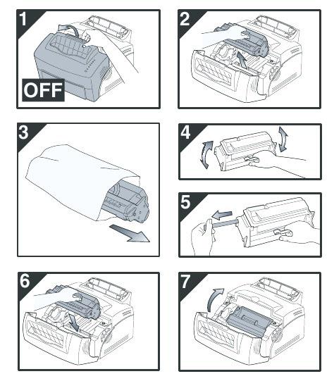 Cách tháo hộp mực máy in Canon 3300