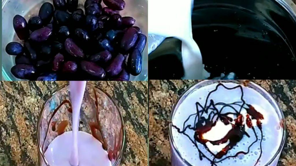 how to make black grapes milkshake