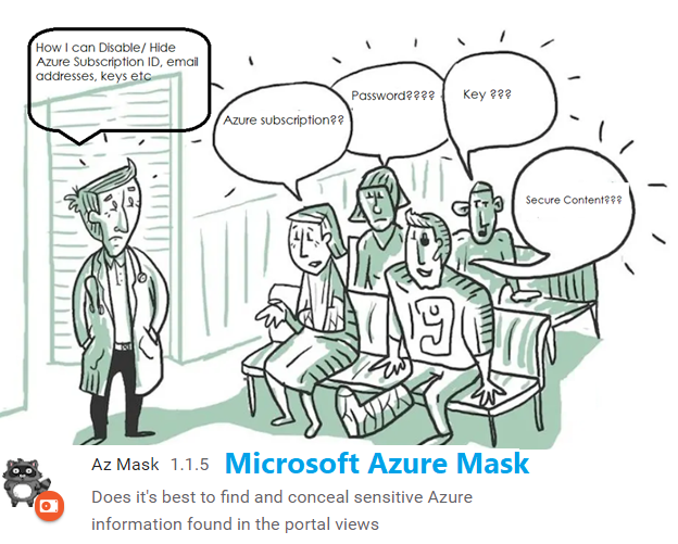 Azure secrets content mask for presentations and screen recordings