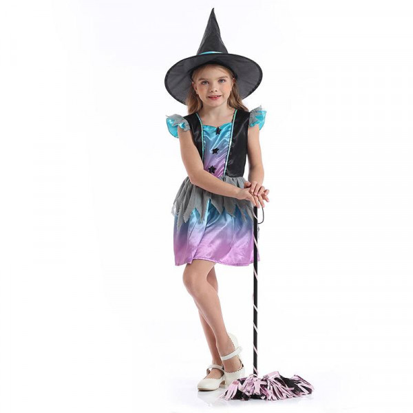 Cute girl in witch outfit