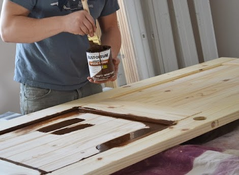 Staining interior doors ana white woodworking projects we purchased prehung pine unfinished doors from our local home improvement store planetlyrics Gallery