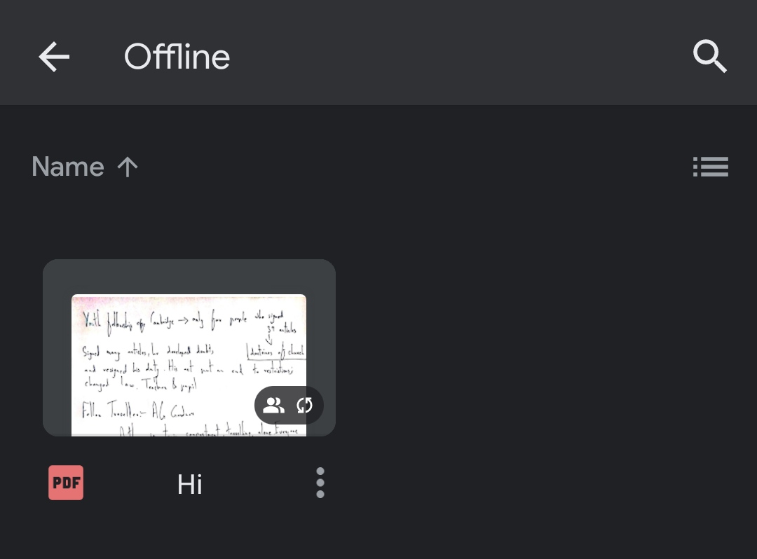 GDrive offline settings