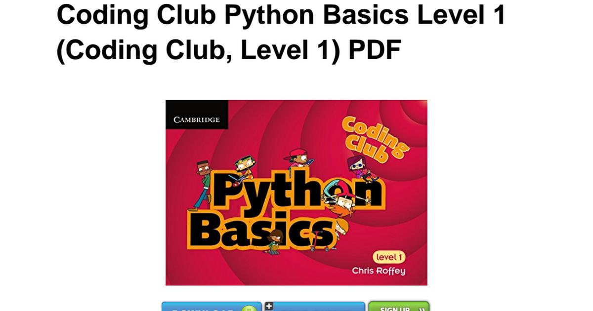coding club level 1 python basics roffey chris