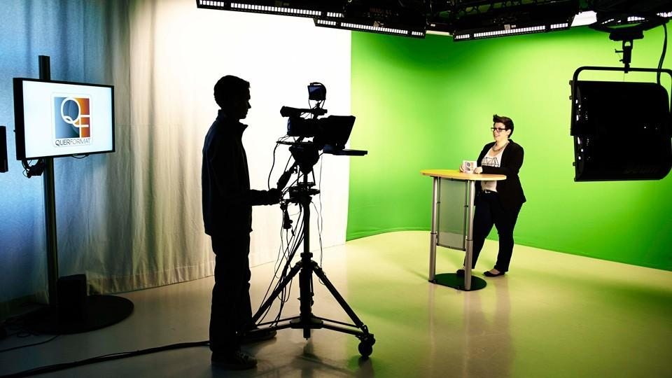 TV Studio der University of Applied Sciences Europe