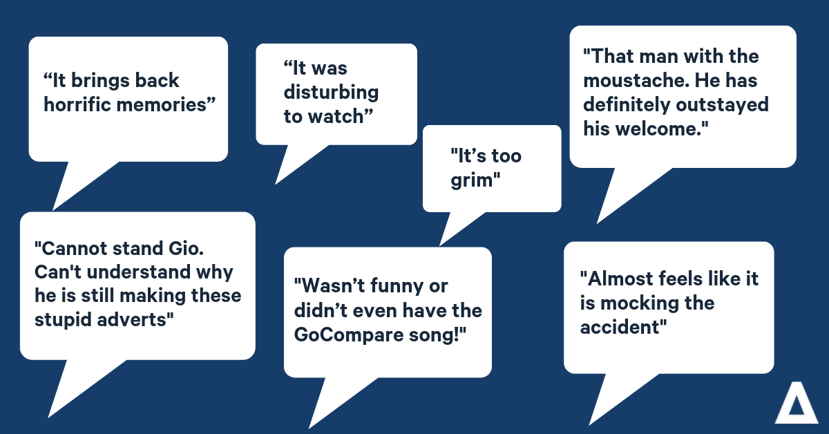 What did you least like about GoCompare's advert?