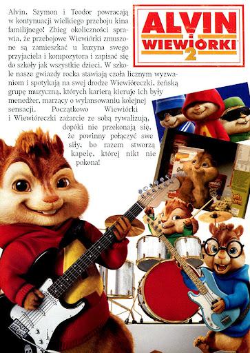 Tył ulotki filmu 'Alvin i Wiewiórki 2'