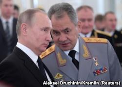 Сергей Шойгу с Владимиром Путиным