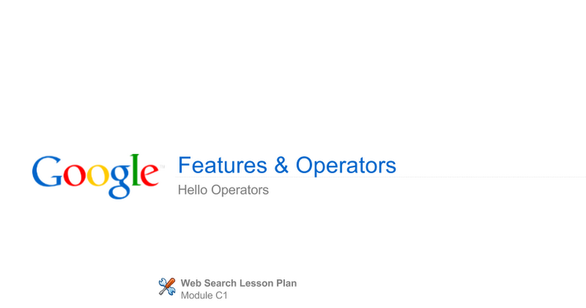 C1 hello operators presentation google slides stopboris Choice Image