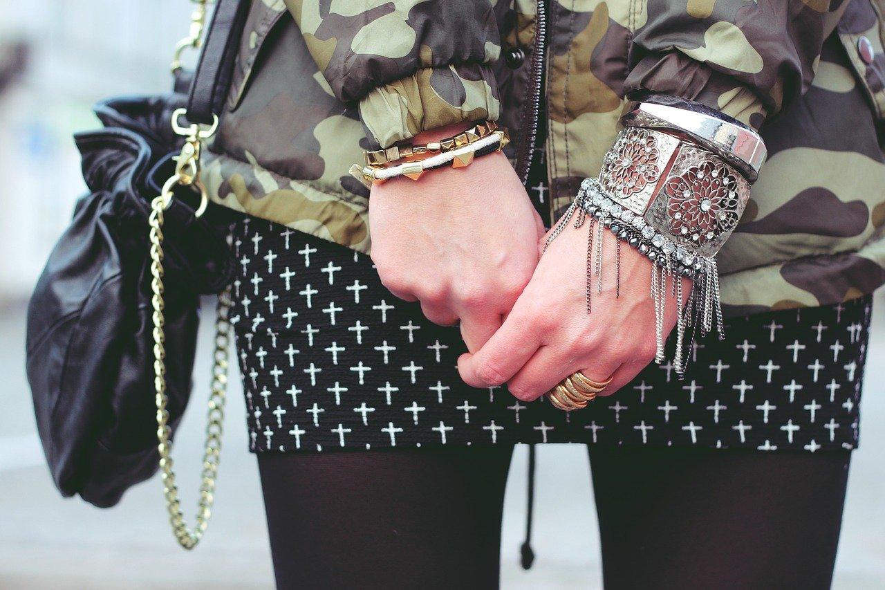 a woman wearing jewelry