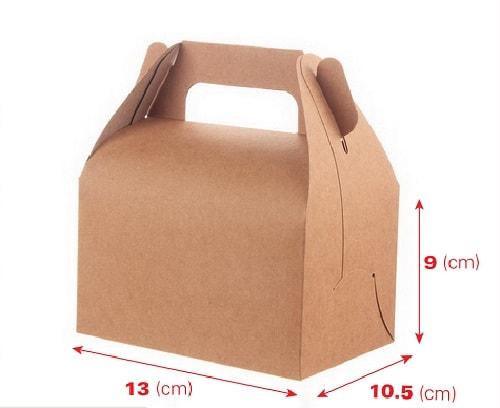 hộp giấy kraft cầm tay đựng bánh ngọt
