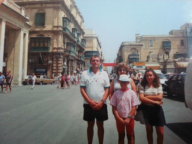 Family holiday Malta 1994