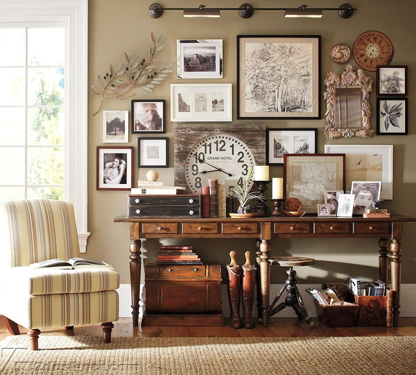 Tranh vintage thường dùng các gam màu nhạt và nhẹ nhàng
