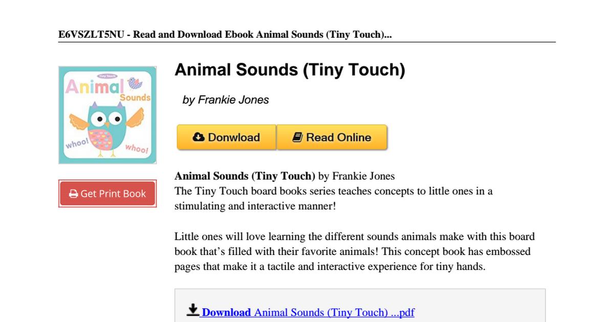 Animal-Sounds-Touch-Frankie-Jones-1499800606 pdf - Google Drive
