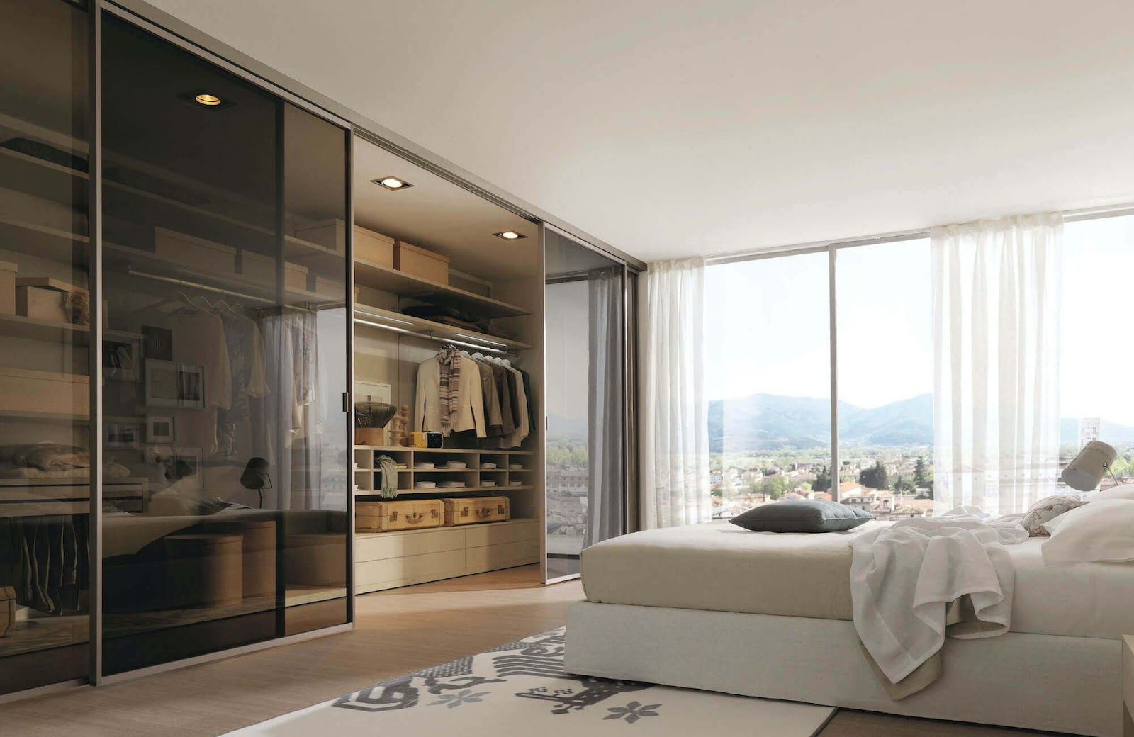 Your Bedroom will feel more Modern with a Mirror Closet Door