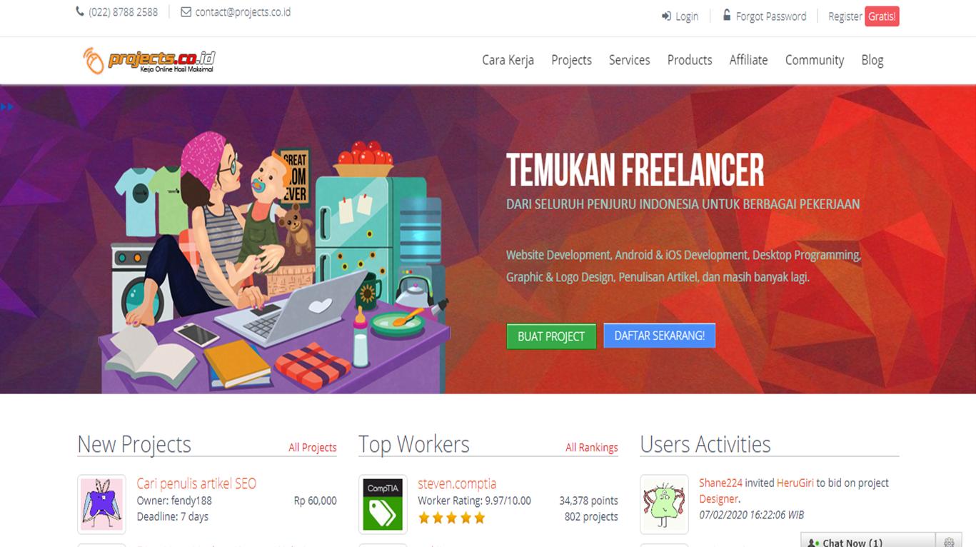 Rekomendasi 12 Situs Freelance Yang Dapat Menghasilkan Uang