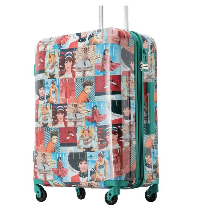 Mẫu vali in hình bìa các tạp chí Elle thập niên 90.
