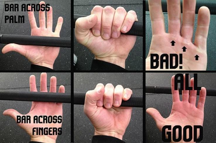 Výsledek obrázku pro CrossFit pull up hands