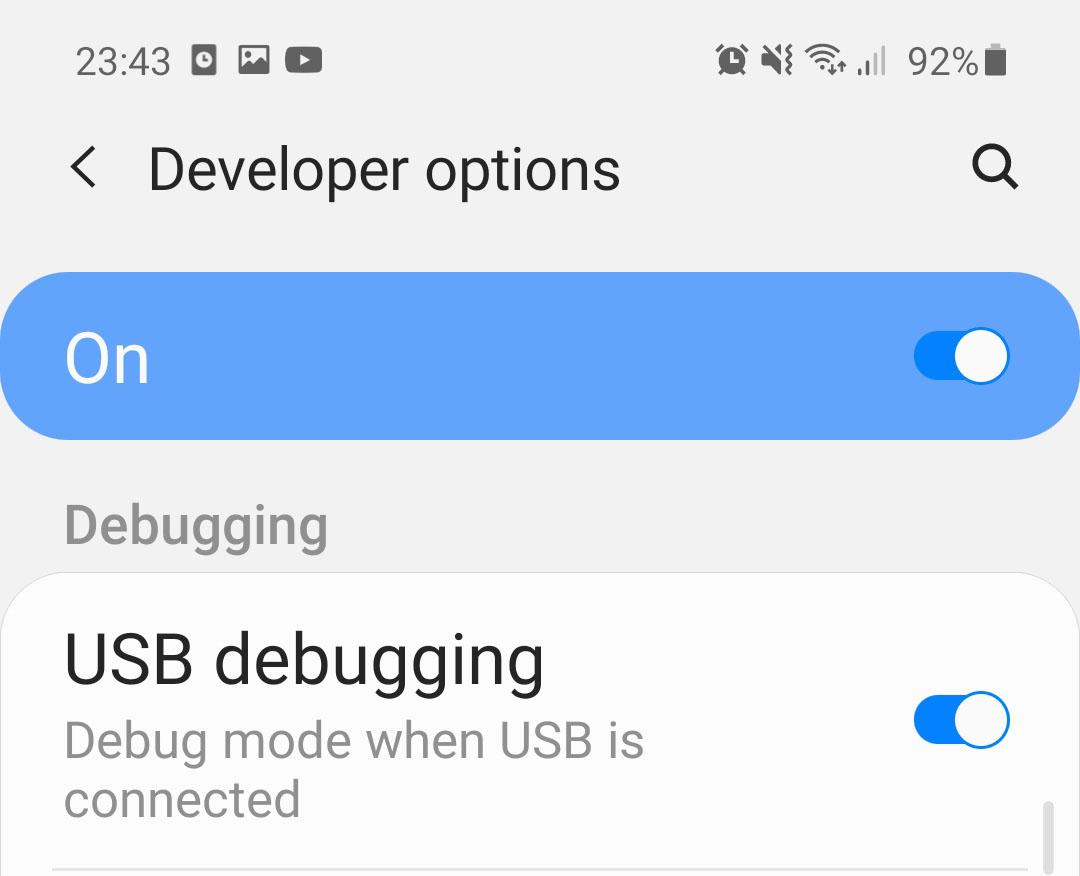otklanjanje grešaka na Androidu
